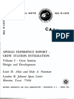 Apollo Experience Report Crew Station Integration Volume I Crew Station Design and Development