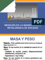 MEDICIÓN EN LA MANIPULACIÓN METALÚRGICA DE SÓLIDOS