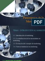Panorámica de la Mercadotecnia