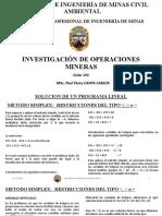 Sesion 11 (Método Simplex - Restricciones menor,mayor o igual)) - Investigación de Operaciones