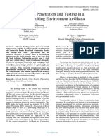 Network Penetration and Testing in a Rural Banking Environment in Ghana