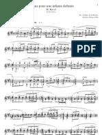 Pavane Pour Une Infante Defunte - For Solo Guitar