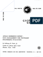 Apollo Experience Report Data Management for Post Flight Engineering Evaluation