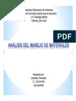 Análisis Del Manejo de Materiales