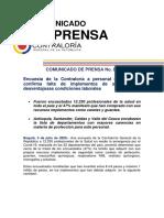05jul2020-Comunicado de Prensa 087-CGR confirma falta de elementos protección personal salud