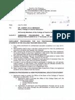 VPAA Office Memorandum Order No. 30, s. 2020
