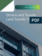 Bennett Jones - Ontario and Toronto Land Transfer Tax