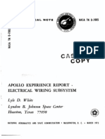 Apollo Experience Report Electrical Wiring Subsystem