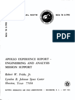 Apollo Experience Report Engineering and Analysis Mission Support