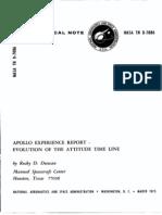 Apollo Experience Report Evolution of the Attitude Time Line