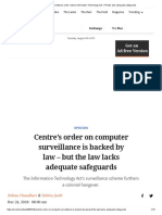Computer surveillance order_ India's Information Technology Act, IT Rules lack adequate safeguards