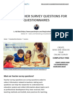 Top 32 Teacher Survey Questions for Questionnaires _ QuestionPro