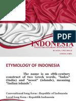 Politics and Governance of Indonesia