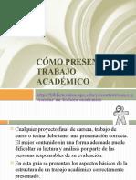 Cómo presentar un trabajo académico_compartible