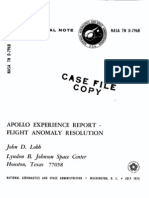 Apollo Experience Report Flight Anomaly Resolution