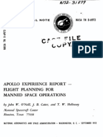 Apollo Experience Report Flight Planning for Manned Space Operations