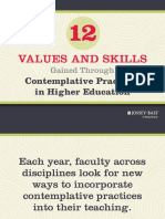 12 values and skills contemplative highered education