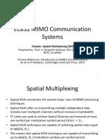 Spatial Multiplexing_Prof.Sripati Acharya