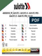 Parts manual HA16 RTJ