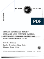 Apollo Experience Report Guidance and Control Systems Automated Control System for Unmanned Mission as-201