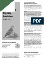 2010 - 2011 Arizona Dove and Band-Tailed Pigeon Brochure