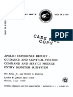 Apollo Experience Report Guidance and Control Systems Command and Service Module Entry Monitor Subsystem