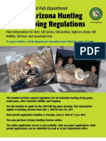 2010 - 2011 Arizona Hunting and Trapping Regulations Brochure
