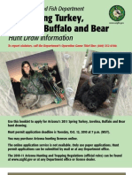 2011 Arizona Spring Turkey, Javelina, Buffalo and Bear Brochure