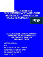 Effectiveness of Performance Appraisal With Reference to Supervisory Draft