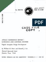 Apollo Experience Report Guidance and Control Systems Digital Autopilot Design Development