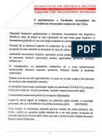 Declaratia Fractiunii PSRM - 17 iulie 2020