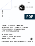 Apollo Experience Report Guidance and Control Systems Lunar Module Stabilization and Control System