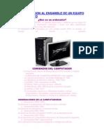 Introduccion Al Ensamble de Un Equipo de Computo