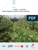 Perennial flower strips - a tool for improving pest control in fruit orchards