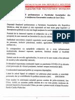 Deputații PSRM au semnat o Declarație în susținerea Guvernului condus de Ion Chicu
