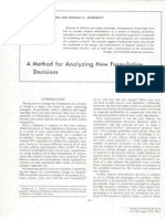 A Method for Analyzing New Formulation Decision