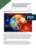 transinformation.net-NASA Klimawandel wird durch Veränderungen in der Umlaufbahn der Erde um die Sonne und Veränderungen d