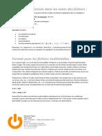Formats de fichiers Internet