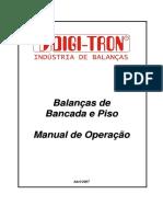 MANUAL OPERAÇÃO BALANÇA BANCADA E PISO
