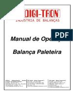 MANUAL OPERAÇÃO BALANÇA PALETEIRA