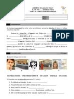 DOSSIER 0 ET 1 - TEST A DE COMPÉTENCE LINGUISTIQUE - ALTER EGO+ 1 (1)