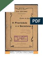 A propriedade e o socialismo