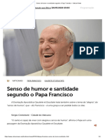 Senso de humor e santidade segundo o Papa Francisco - Vatican News