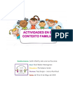 ACTIVIDADES  PARA LA FAMILIA- NIVEL MEDIO