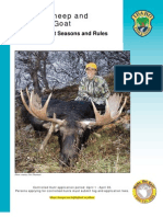 2010 Idaho Moose, Bighorn Sheep and Mountain Goat Brochure