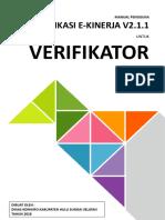 Manual eKinerja-  Verifikator