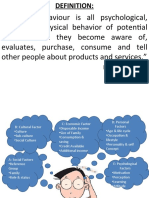 factor affecting consumer buying behaviour