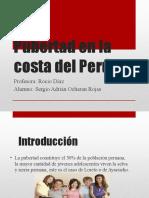 Pubertad en la costa del Perú