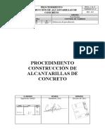 PEP-045 PROCEDIMIENTO CONSTRUCCIÓN DE ALCANTARILLAS DE CONCRETO