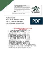 ACTIVIDAD  CODIGO SUSTANTIVO DEL TRABAJO (LUZ MARINA MILLAN) (LUZ MARINA MILLAN)